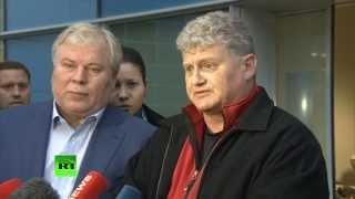 Пресс-конференция отца Эдварда Сноудена по прибытии в Москву