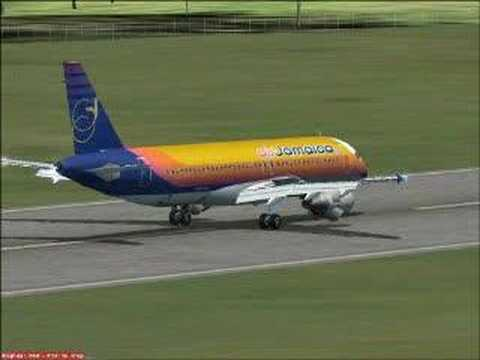 FSX Air Jamaica A320 Kingston to Mobay Quick Flight - YouTube