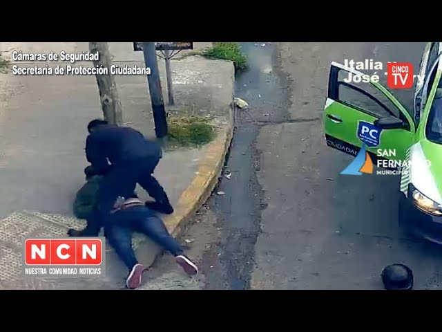 CINCO TV - Protección Ciudadana de San Fernando detuvo a un asaltante armado que robó a un ciclista