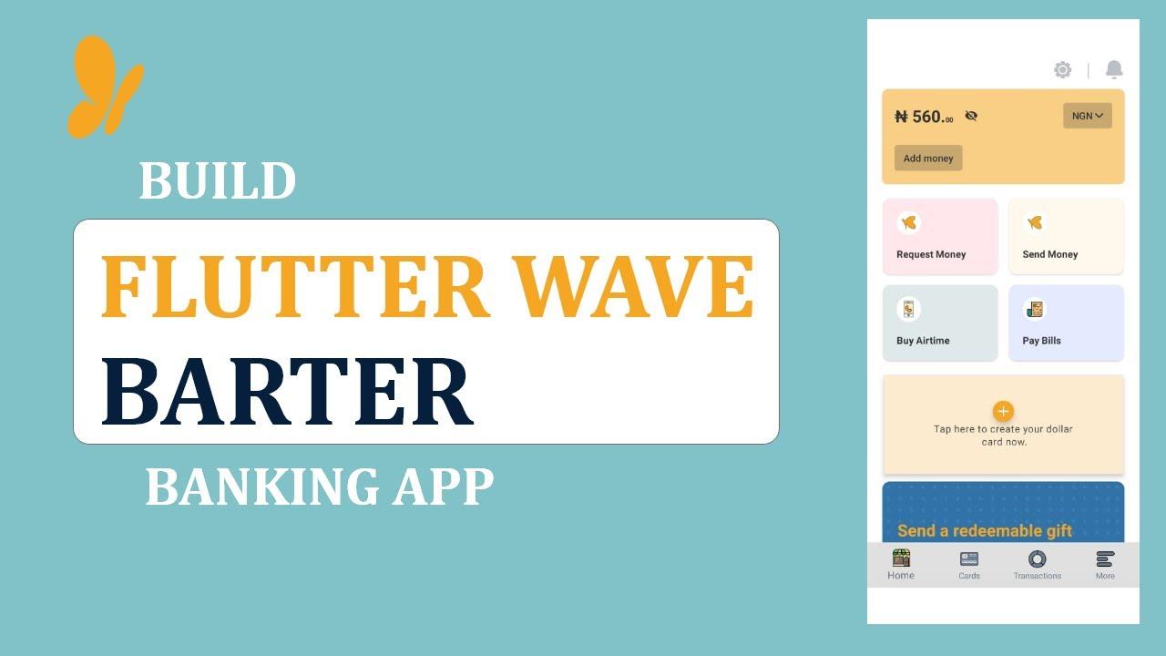 Flutterwave: Build Barter Banking Application using React Native #02