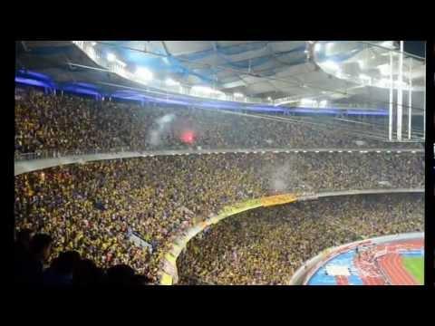 Sorakan penyokong Malaysia di Stadium Bukit Jalil