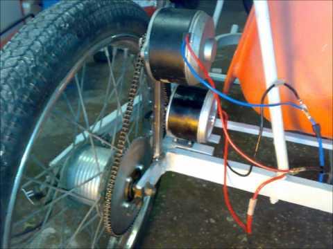 Test kart elettrico DIY 500watt a 12Volt 35km/h - YouTube