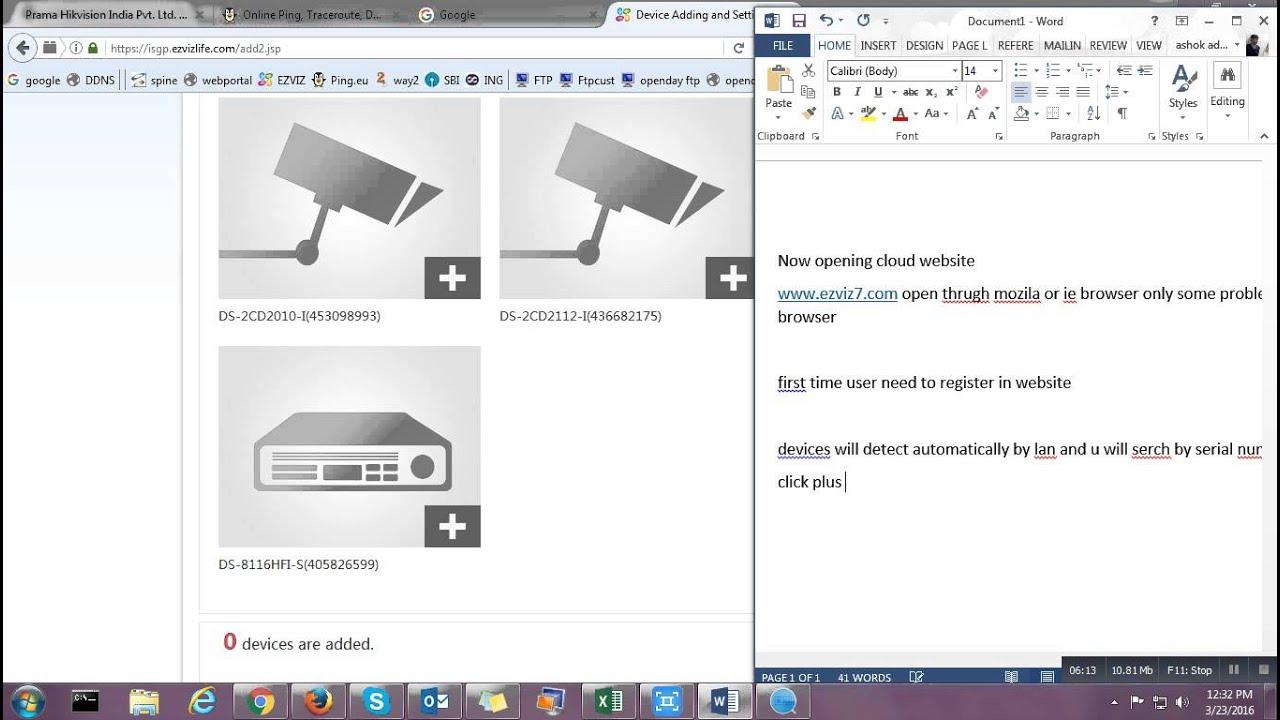 Hikvision EZVIZ cloud p2p online