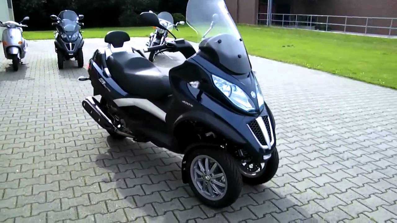 piaggio mp3 400 lt touring 11 roller scooter blau 2011 youtube. Black Bedroom Furniture Sets. Home Design Ideas