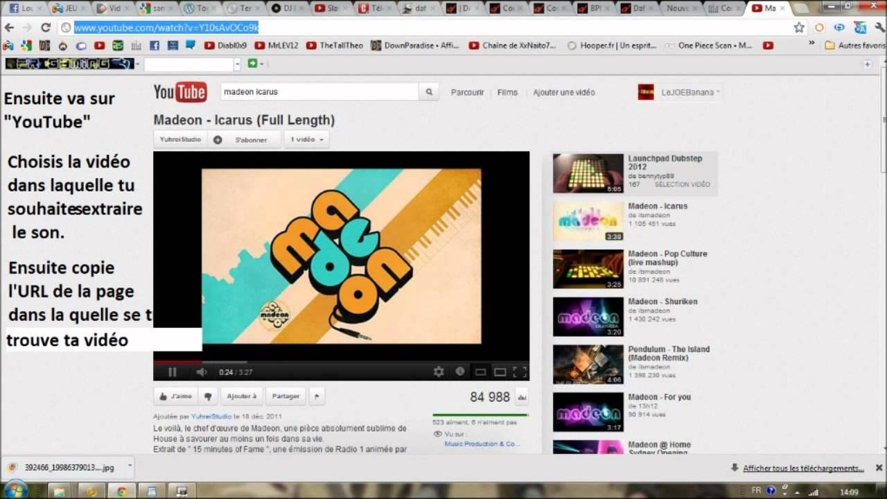 Video 2 mp3 tutoriel comment l 39 utiliser telecharger musique gratuitement youtube - Comment couper une musique mp3 ...