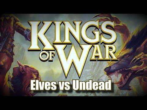 The Elves vs Undead  - Learning Kings of War Battle Report Ep 01