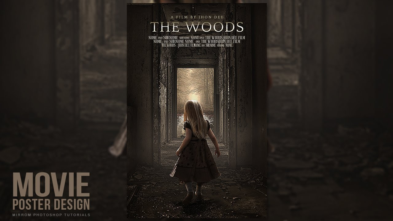 creating a movie poster in photoshop cc the woods youtube