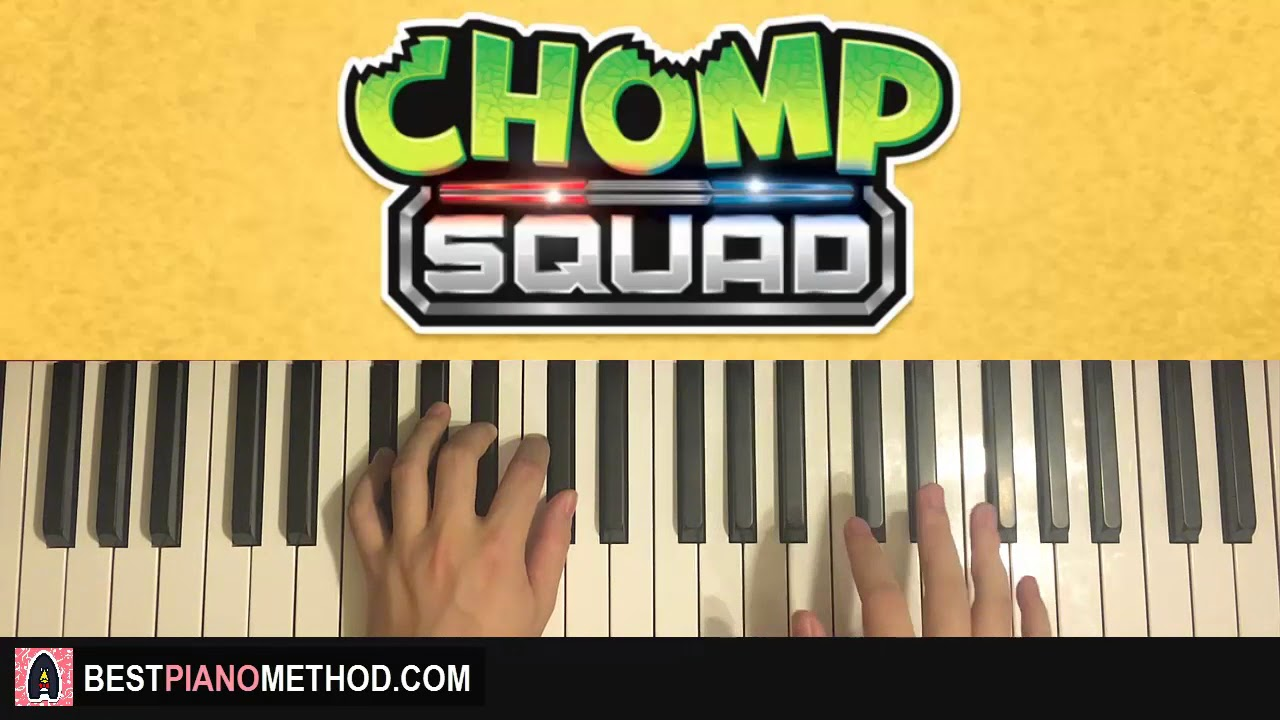 How To Play Chomp Squad Opening Song Piano Tutorial Lesson
