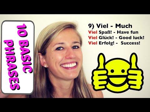 10 Basic German Words EVERY Beginner MUST know!