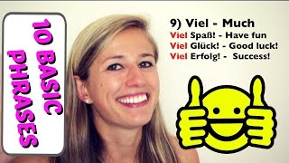10 Basic German Words EVERY Beginner MUST know!