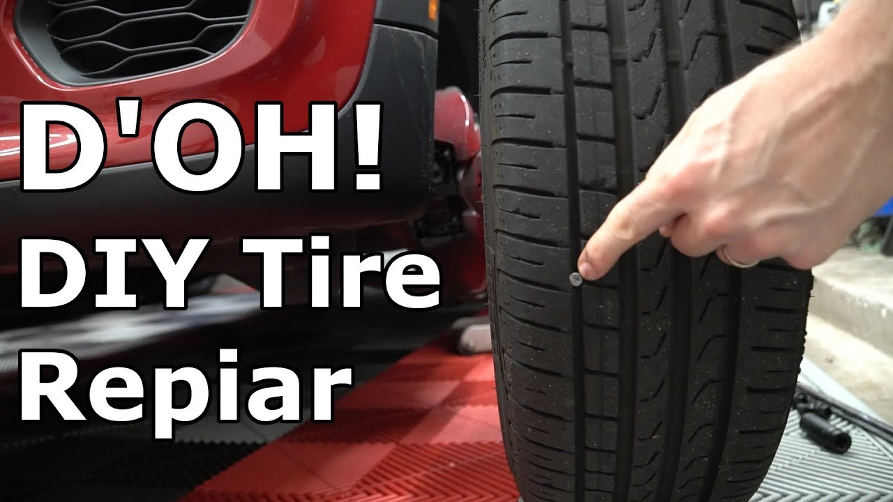 Nail In Tire Repair >> How To Repair A Tire Puncture From A Nail Or Screw