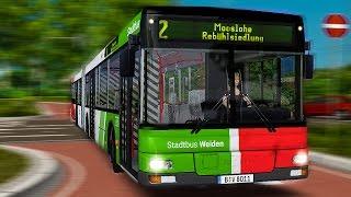 OMSI 2: In WEIDEN mit dem MAN A23 NG 313 Gelenkbus auf der Linie 2!