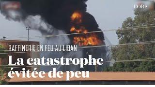 Les images de l'important incendie dans une raffinerie au Liban