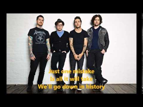 Fall Out Boy- Centures- Lyrics