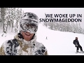 We Woke Up In Snowmageddon - Deep Powder Snowboarding