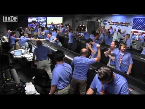Raw Video: Mission control reacts as Curiosity lands on Mars