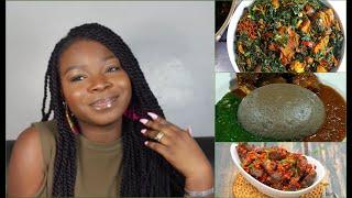 TRADITIONAL YORUBA DISHES  OUR FAVOURITE YORUBA FOODS  AMALA GBEGIRI ASUN EFO RIRO ETC