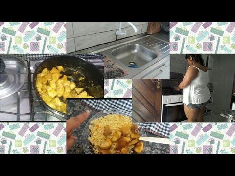 Vlog do meu dia faxinando a sala  e fazendo almoço#casadaaos15