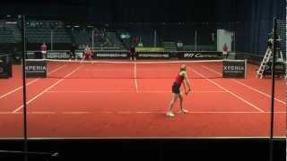 Anna Chakvetadze vs Alize Cornet @ Porsche Tennis Grand Prix 2012