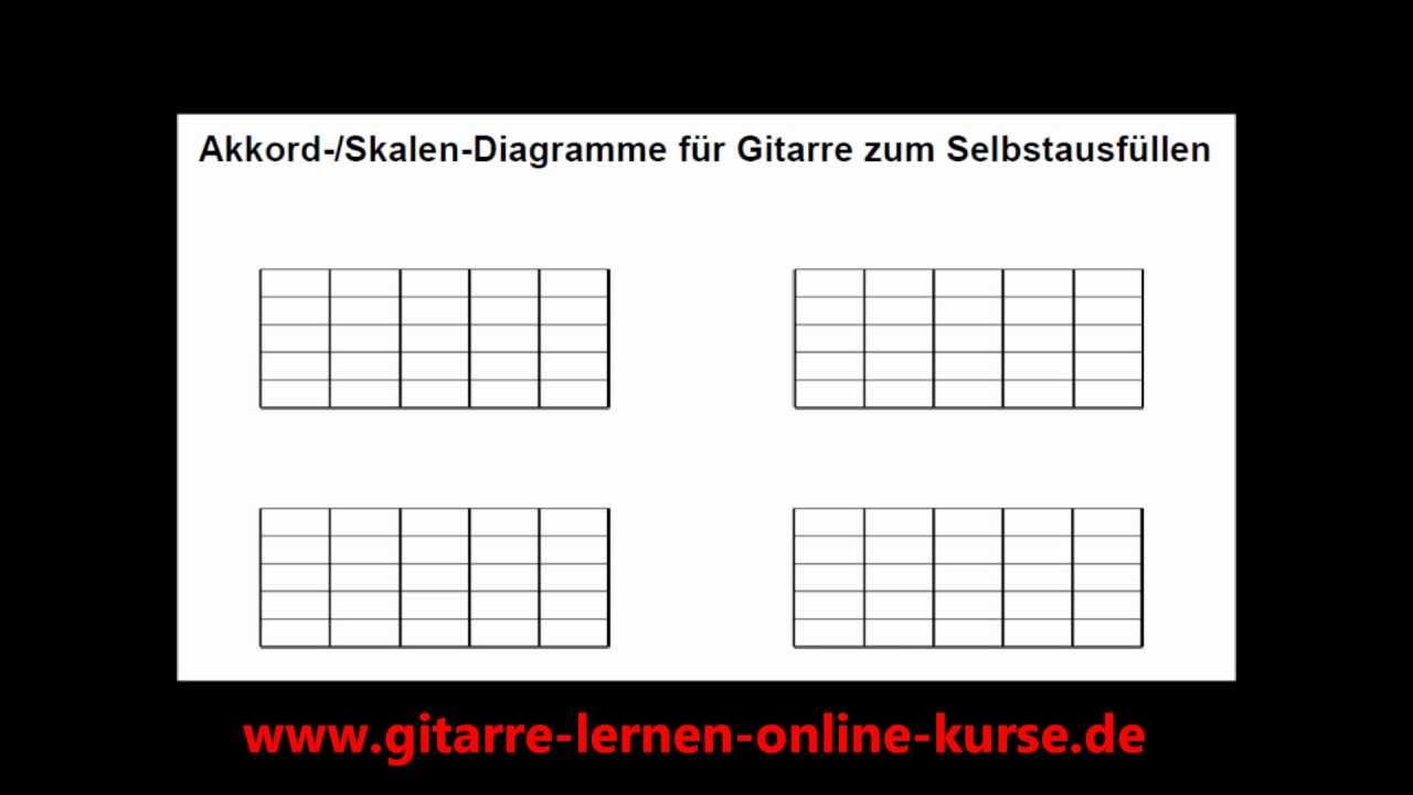 akkord diagramme downloaden und selbst ausf llen auch als skalen diagramme nutzbar youtube. Black Bedroom Furniture Sets. Home Design Ideas