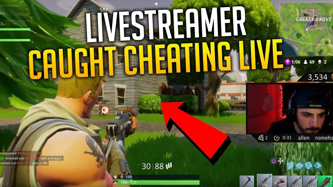 FAMOUS LIVESTREAMER CAUGHT CHEATING LIVE - Fortnite Battle Royale WTF & Funny Moments #14