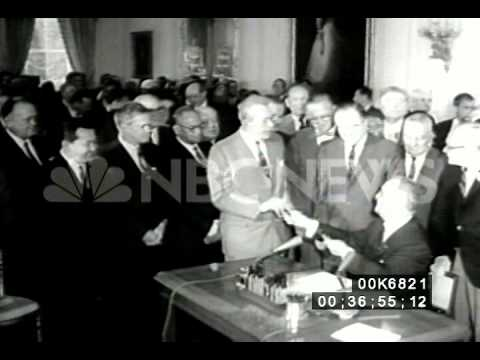 1964: President Johnson Signs the Civil Rights Act - www.NBCUniversalArchives.com