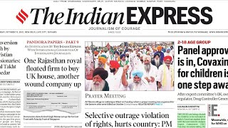 13th October, 2021. The Indian Express Newspaper Analysis presented by Priyanka Ma'am (IRS).