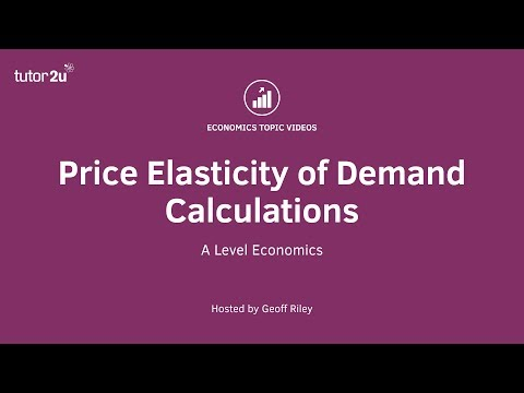Price Elasticity Of Demand Two Example Calculations Youtube