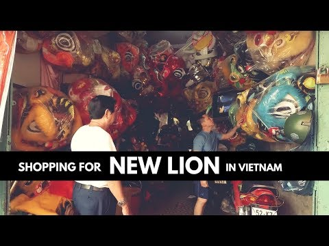 SHOPPING LION DANCE COSTUME IN VIETNAM \\ Where they make Lion Dance Equipment & Cost