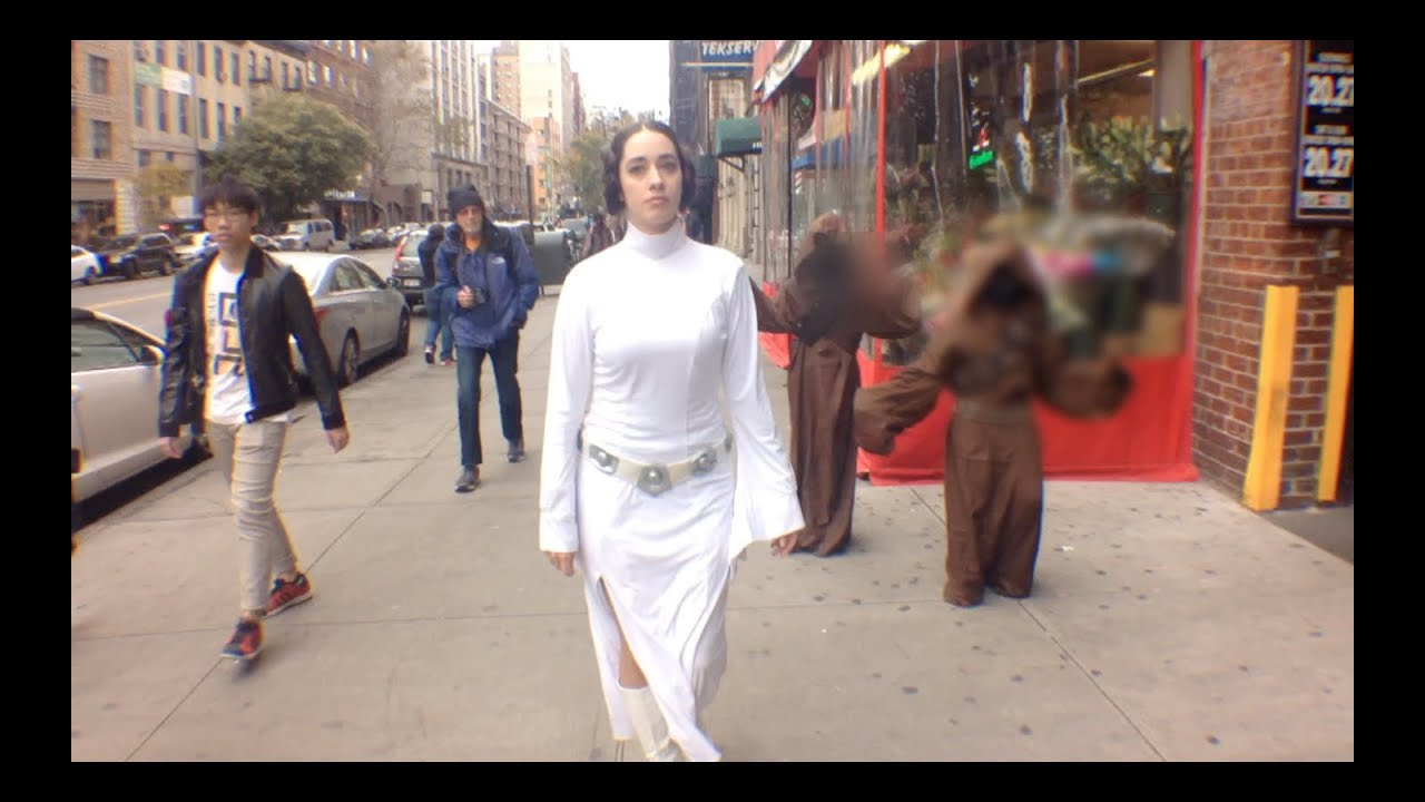 10 hours of princess leia walking in nyc (official video) - youtube