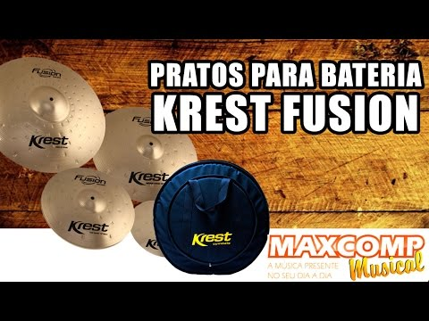 Prato para bateria Krest Fusion - MAXCOMP MUSICAL