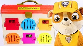 PAW PATROL Animal Clinic Best Learning Videos for COLORS - Play Doh Paw Patrol