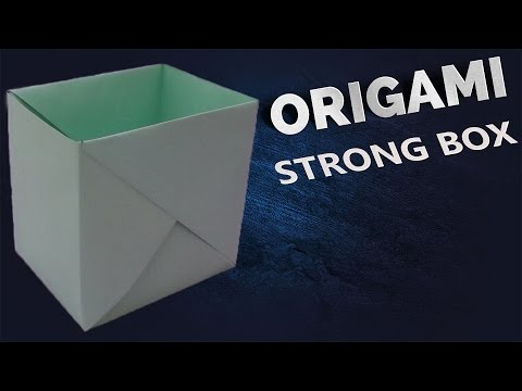 折り方 a4 紙 箱 折り方 : How to Make a Strong Paper Box