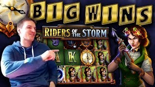 BIG WINS on Riders of the Storm Thunderkick Slot