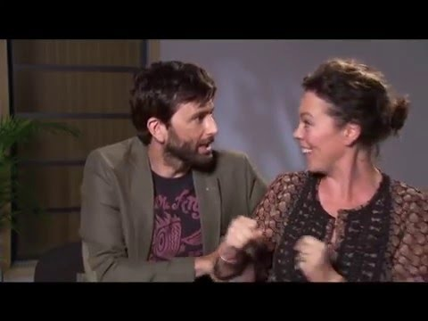 David Tennant and Olivia Colman speaking French
