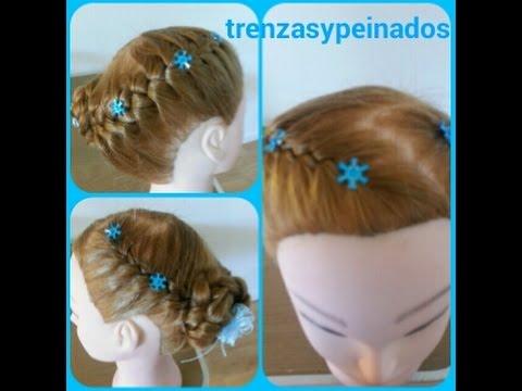 Peinado De Elsa Frozen Elsas Frozen Coronation Hairstyle Youtube