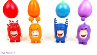 Oddbods Pj Masks Toys - Learn Colors with Colorful Balls Oddbods Pj Masks Toys Playclaytv
