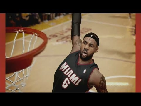 "Watch Lebron James Interview NBA 2K14's Lebron ""Video Game"" James + Gameplay"