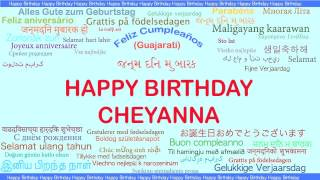 Cheyanna   Languages Idiomas - Happy Birthday