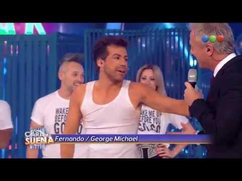 El look de Fernando como George Michael - Tu Cara Me Suena 2014