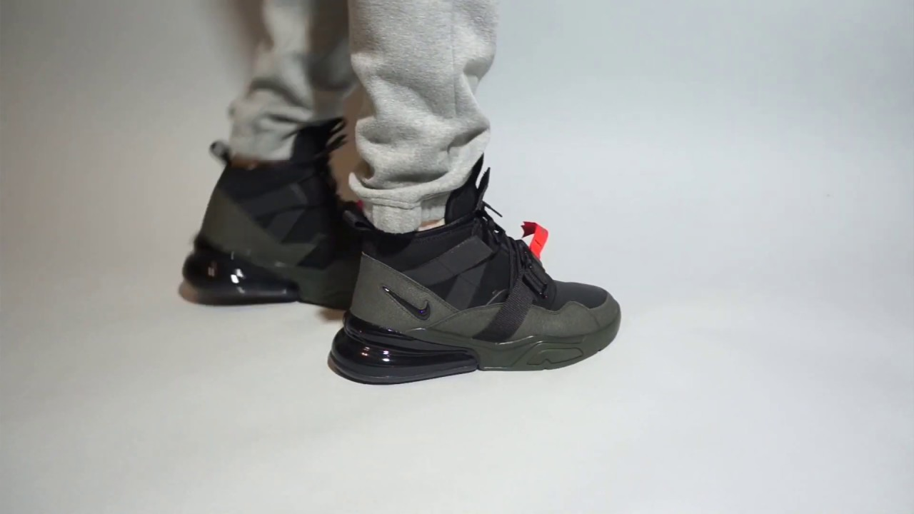 Nike Air Force 270 Utility Sequoia AQ0572-300 oon feet - YouTube 971847d9b4