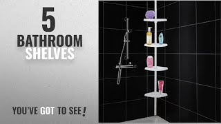 Top 10 Bathroom Shelves [2018]: 4 Tier Adjustable Shelf Bathroom Organiser Corner Shower Shelf
