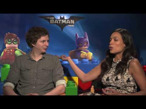 Michael Cera & Rosario Dawson Lego Batman Movie Interview