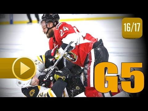 Boston Bruins vs Ottawa Senators. 2017 NHL Playoffs. Round 1. Game 5. April 21st, 2017. (HD)