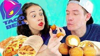 TASTING TACO BELL BREAKFAST FOODS W/ MIRANDA SINGS!