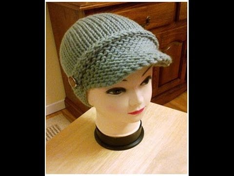 Addi Newsboy Hatloom Knitted Visor Part 2 Tutorial Youtube