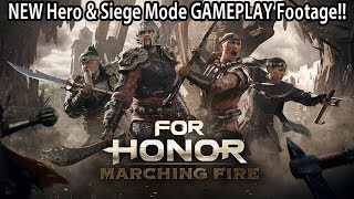 For Honor - NEW Hero & Siege Mode GAMEPLAY Footage!!