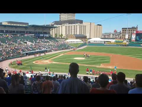 Frontier Field Rochester Red Wings Opening Ceremony