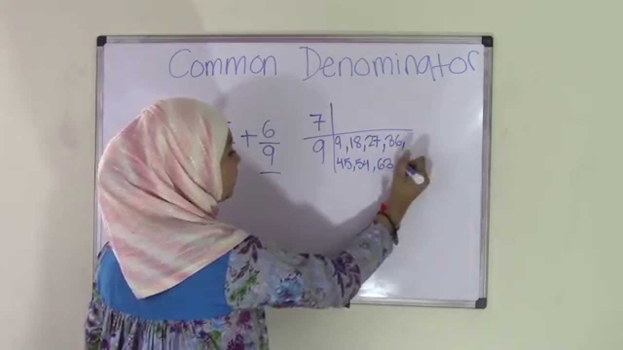 Th Grade Math How To Find Common Denominators  Youtube