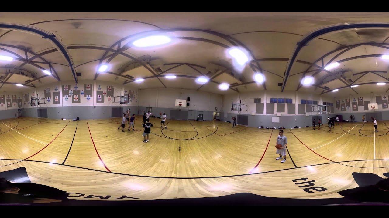 David Lee Basketball >> 360 Video on Basketball Court - GoPro 360 VR Spherical - YouTube